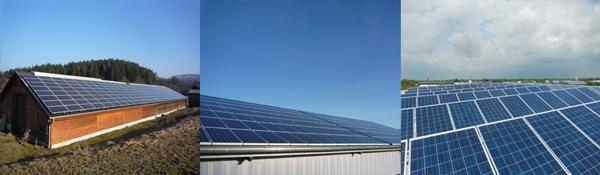 96 kWp Landwirtschaft              120 kWp Landwirtschaft                   82 kWp Gewerbe