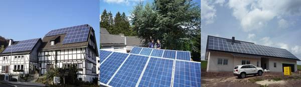 Photovoltaik-Hotel/Restaurant   Hybridanlage-Schwimmbecken   Photovoltaik-Wärmepumpenheizung