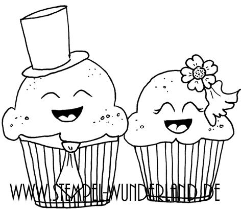 Digi Stamp Stempel download Hochzeit Cupcake Hochzeitspaar Karte Muffin Cucpake von www.stempel-wunderland.de