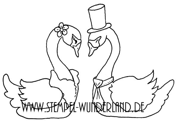 Digi Stamp Stempel download Hochzeit Cupcake Hochzeitspaar Karte Schwan von www.stempel-wunderland.de