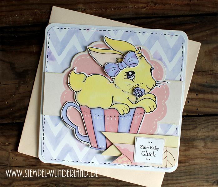Digi Stamp Hase Tasse Babykarte Geburt Teeparty Digitaler Stempel von www.stempel-wunderland.de