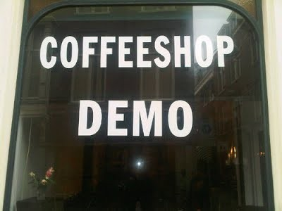 Coffeeshop Cannabis Café Demo Den Haag (The Hague)