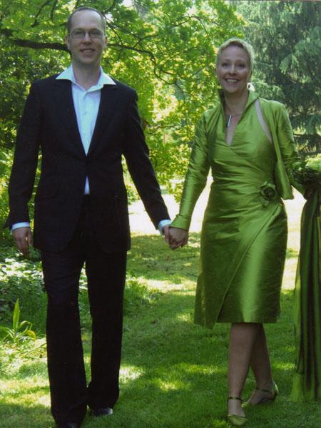 Hochzeit in Grün.