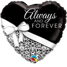 250- Always and Forever  45cm , inkl.Helium 6,90€