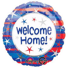 458- Welcome Home, 45cm, inkl. Helium, 6,90€