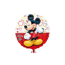 k12-Mickey Mouse, rot7weiß, 45cm, inkl. Helium, 6,90€