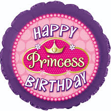 306 Happy Princess Birthday, 45cm, inkl. Helium 6,90€