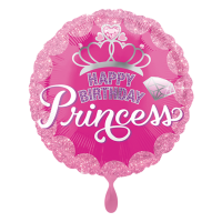 301-Happy Birthday Prinzess 45cm-inkl Helium 6,90€