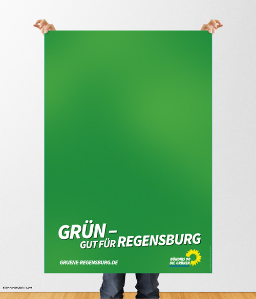 Bündnis 90 die Grünen - Plakat