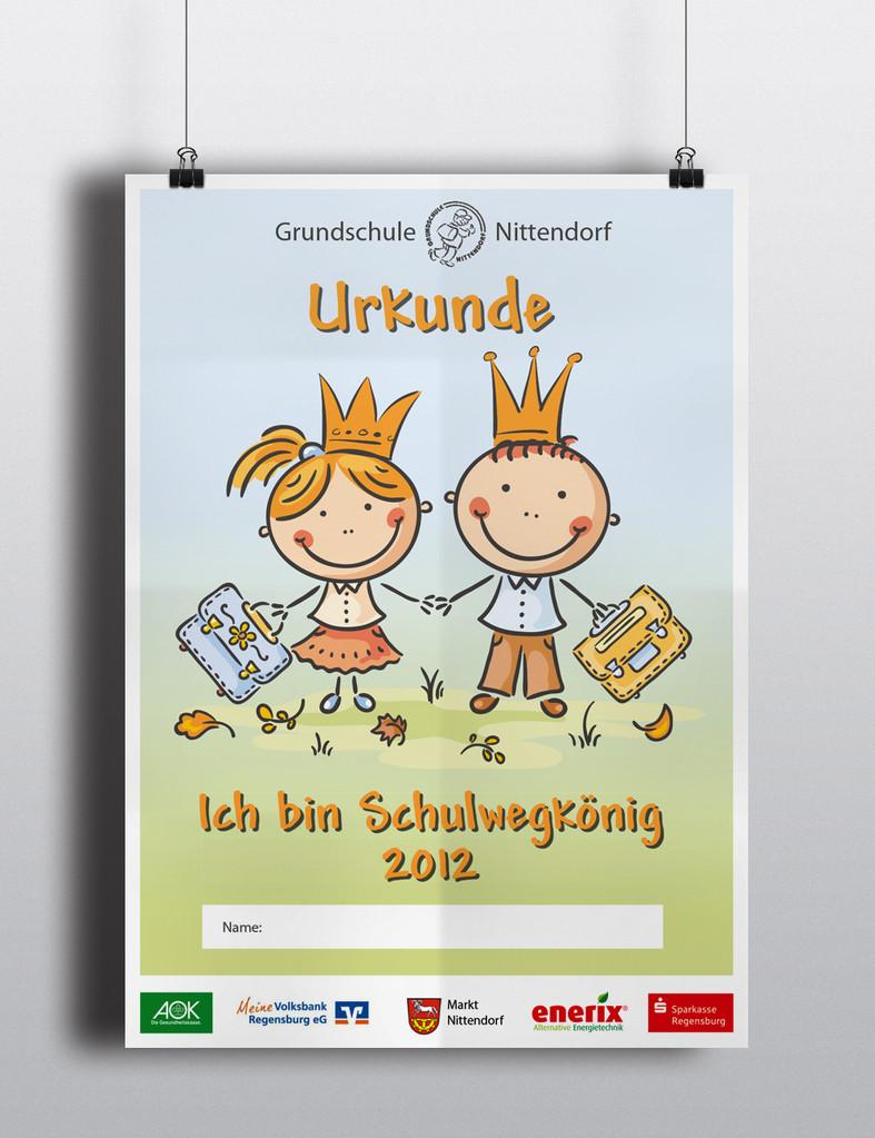 Aktion Schulwegkönig - Plakat