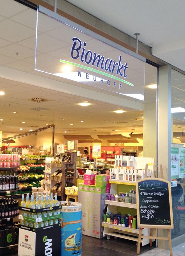 Biomarkt Neuhoff Eingangsbereich