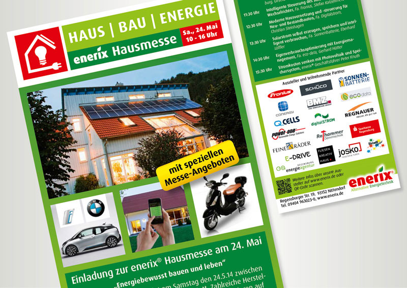 enerix Hausmesse - Flyer
