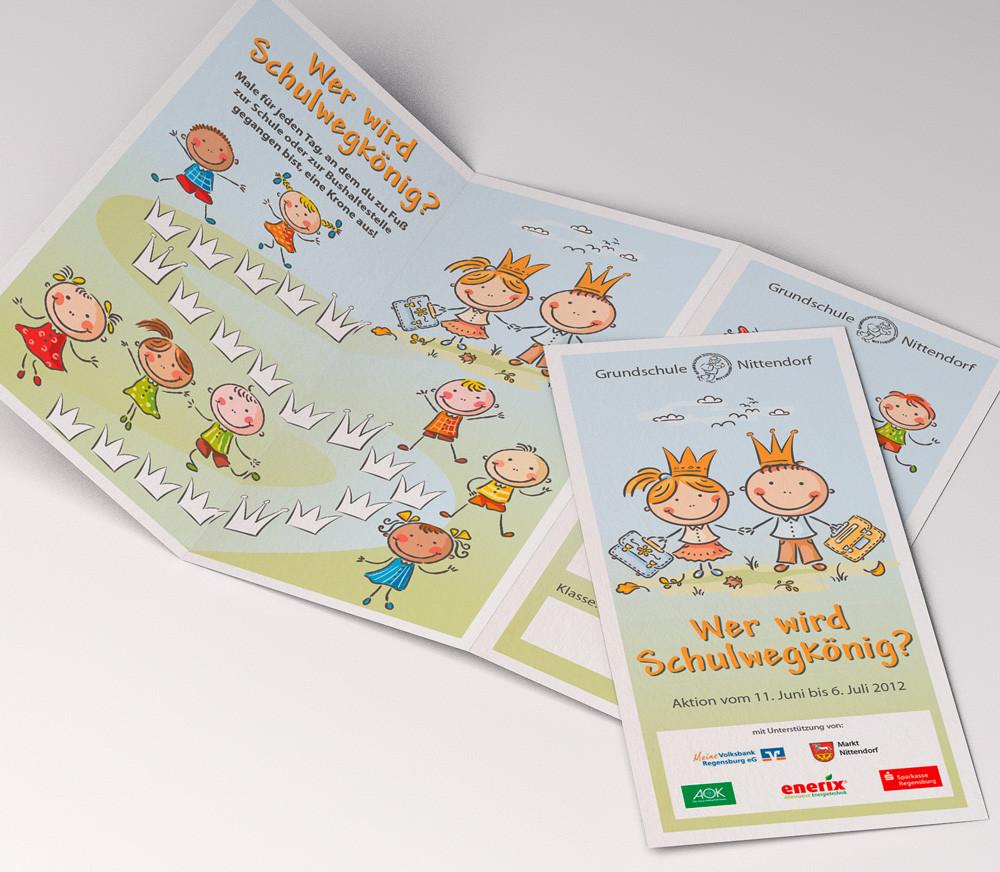 Aktion Schulwegkönig - Flyer