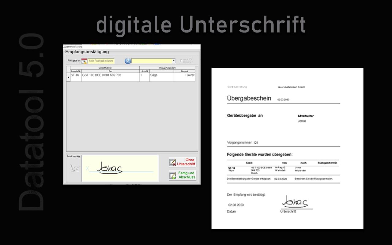 Unterschriften und PDF-Belege per E-Mail