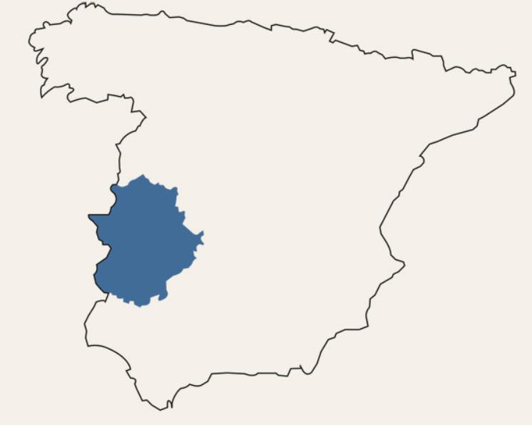 Die Region Extremadura in Spanien