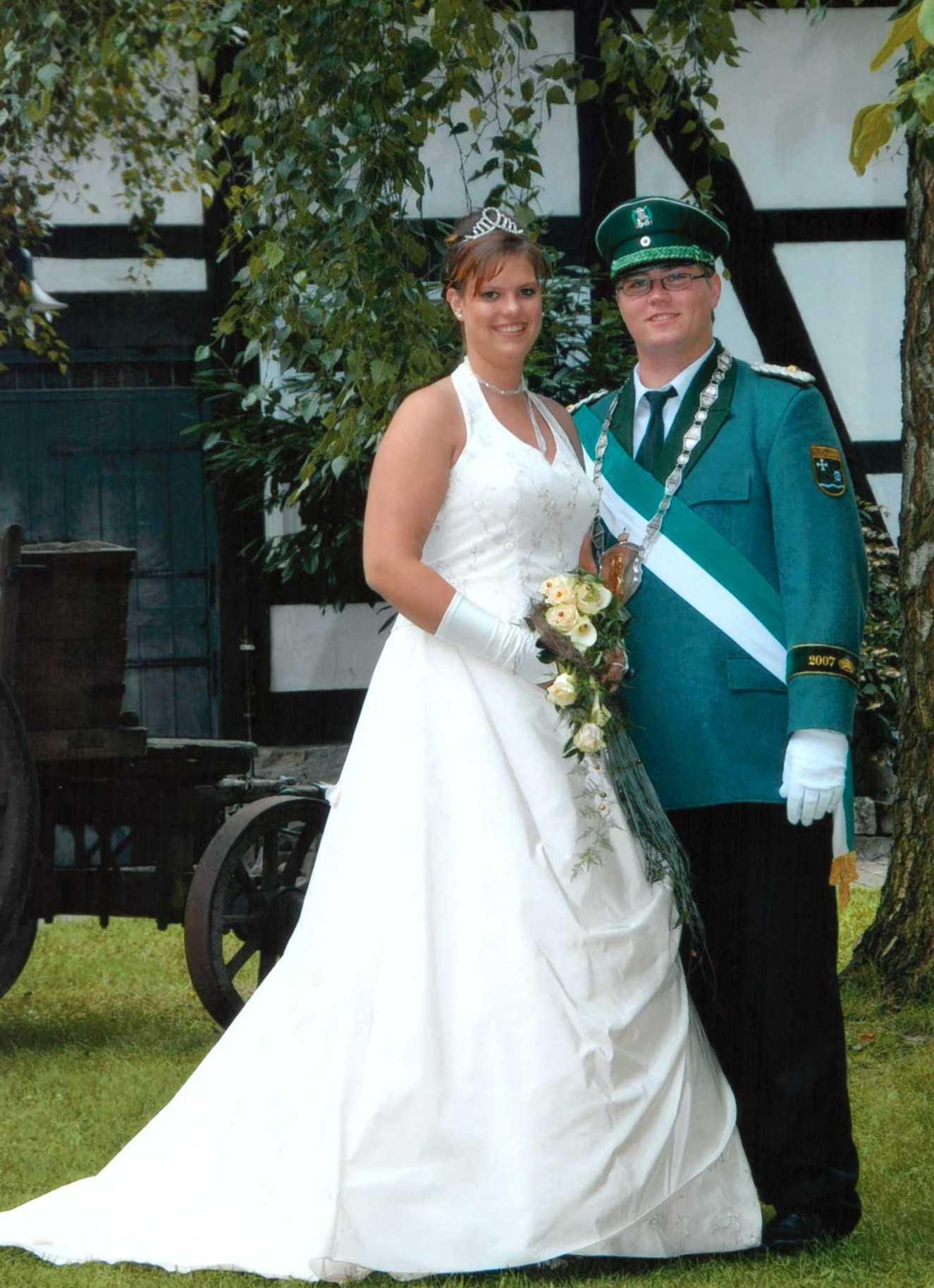 Königspaar 2007 Stefan Hessel und Jennifer Schniedertüns 10 Jahre