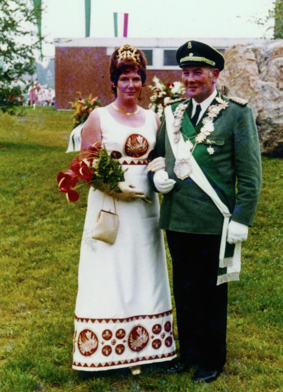 Königspaar 1971 Anton und Maria Schwarzenberg