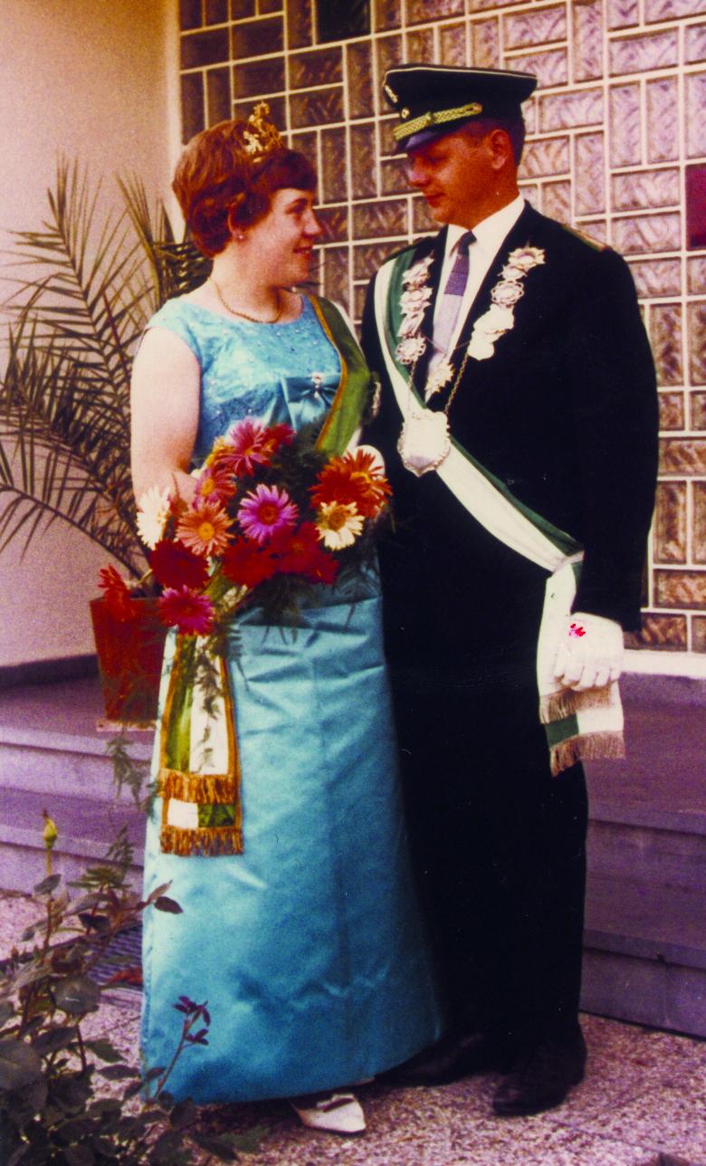 Königspaar 1967 Eberhard und Anni Pollmeier 50 Jahre