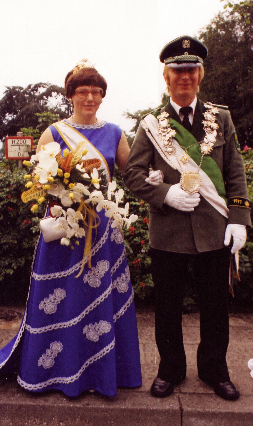Königspaar 1977 Günther und Marlene Hils 40 Jahre