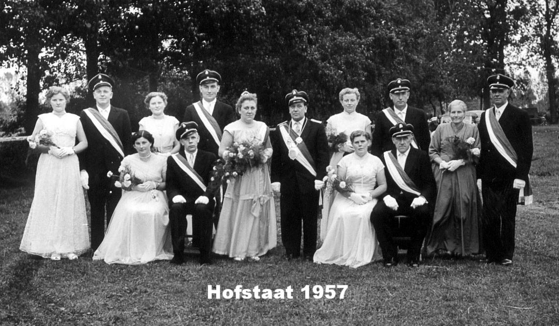 Hofstaat 1957 Johannes und Christine Schuster 60 Jahre