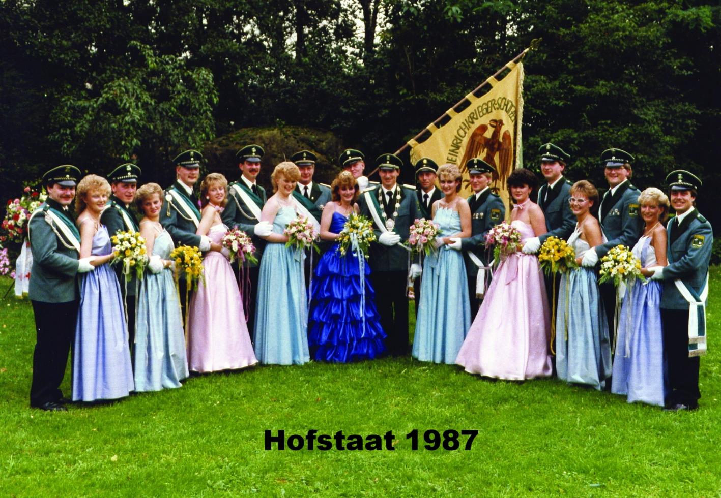 Hofstaat 1987 Niggemeier 30 Jahre