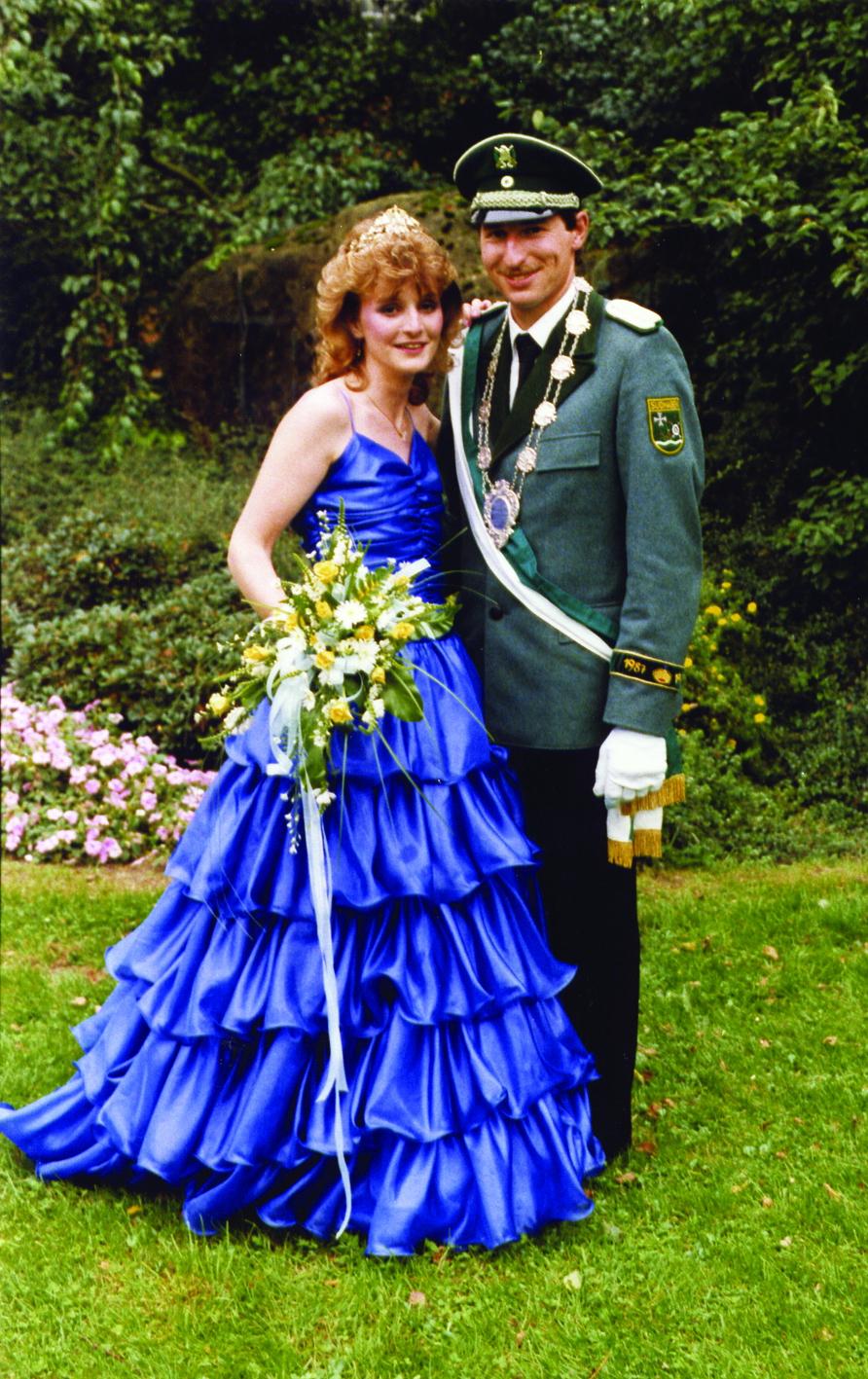 Königspaar 1987 Heinz-Josef Niggemeier und Monika Eblenkamp 30 Jahre