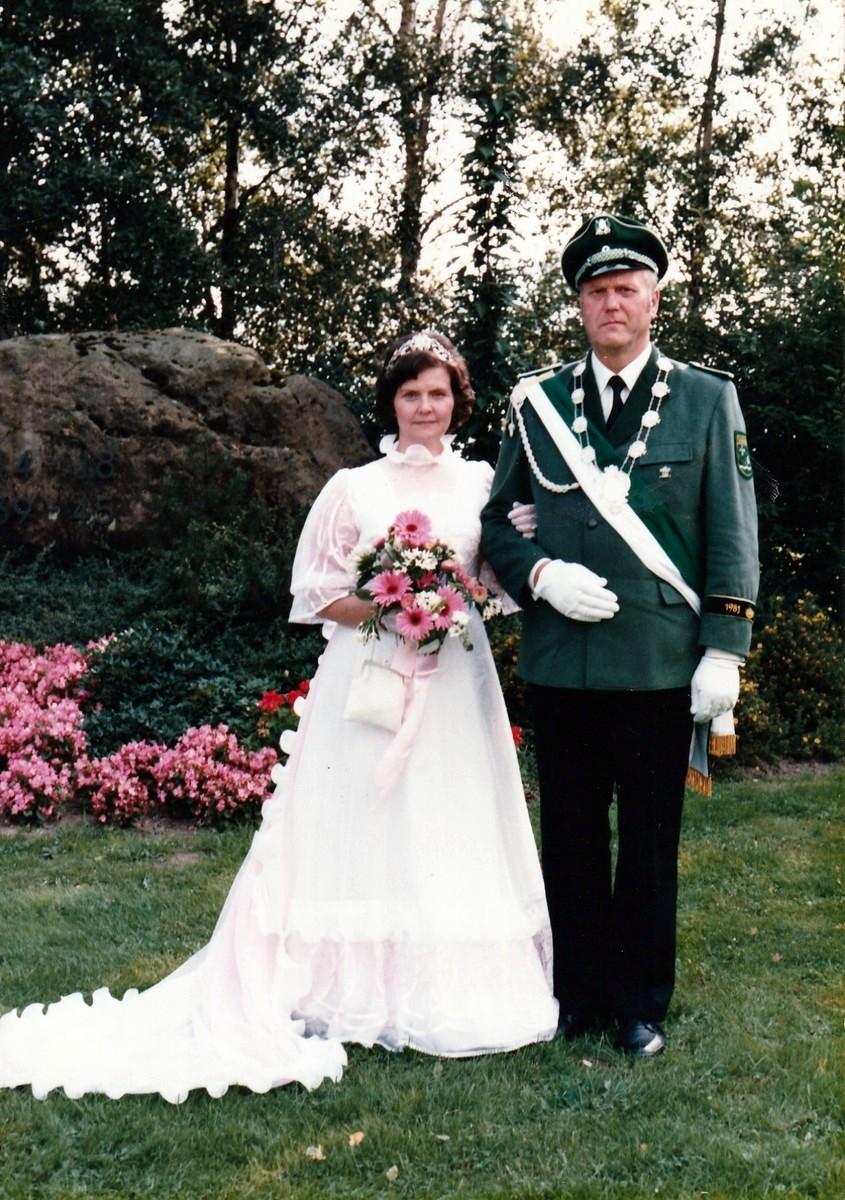 Königspaar 1981 Karl und Käthe Thielemeier