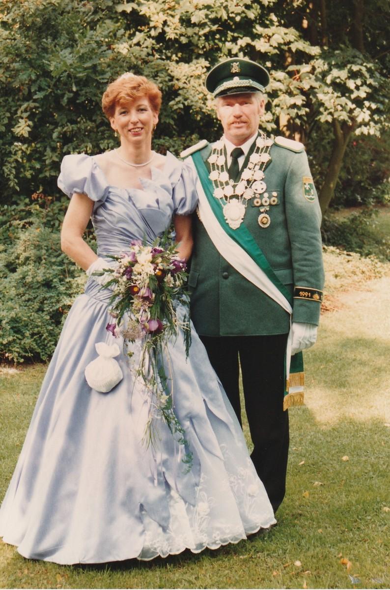 Königspaar 1991 Hubert und Maria Sandtüns