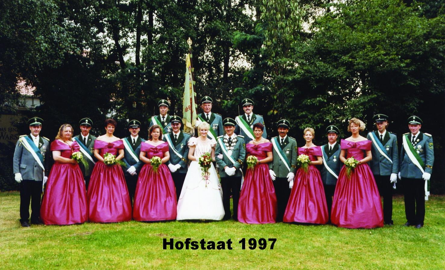 Hofstaat 1997 Niggemeier 20 Jahre