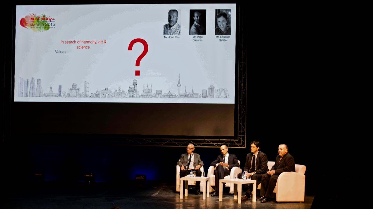 From the left, Mr. Antonio Lobez Tejero, Mr. Iñigo Casares, Mr. Eduardo Setien Laboa, Mr. Joan Pou Palome