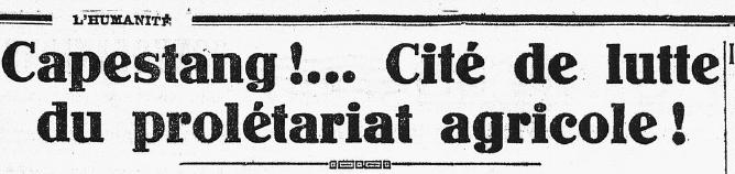 Développer la coopération pour sauver la petite viticulture, 3ème partie : en 1933, une grève de 53 jours !