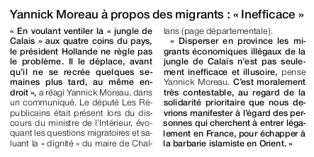 Article Ouest-France du 17 septembre 2016.
