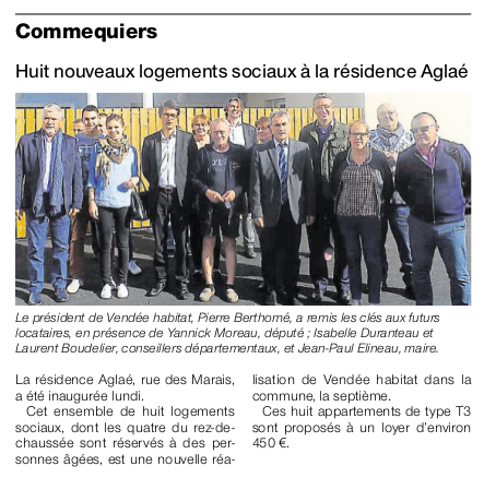 Article Ouest-France du 6 octobre 2016