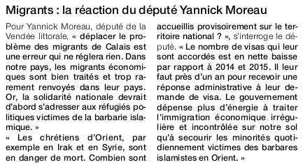Article Ouest-France du 19 septembre 2016.