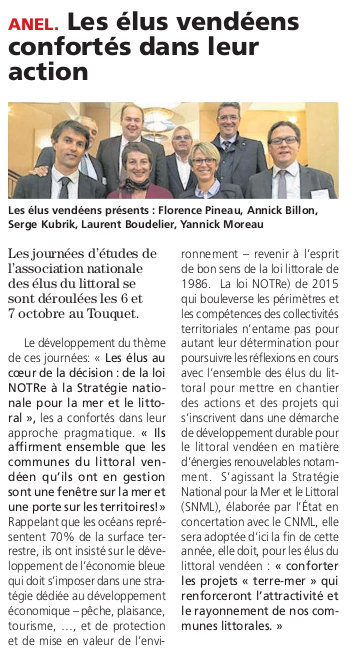 Article du journal des Sables du 13 octobre 2016