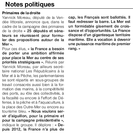 Article Ouest-France du 22 septembre 2016.