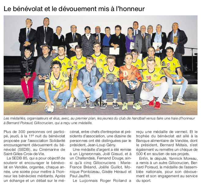 Article Ouest-France du 14 novembre 2016