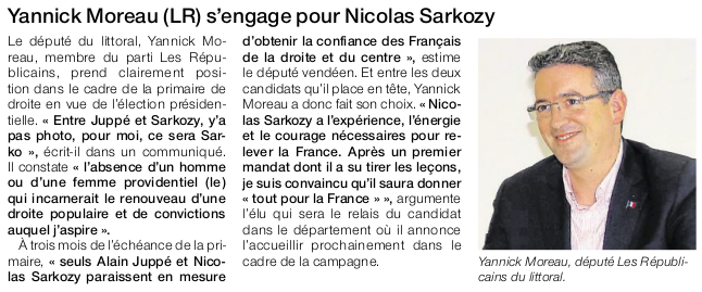 Article Ouest-France du 2 septembre 2016