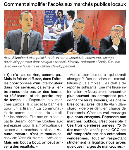 Article Ouest-France du 16 novembre 2016
