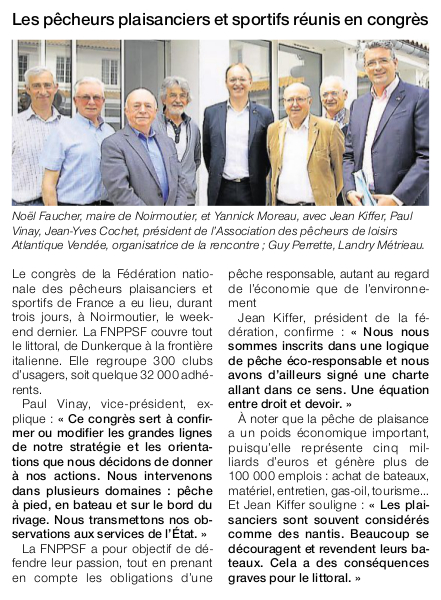 Article Ouest-France du 27 mai 2016