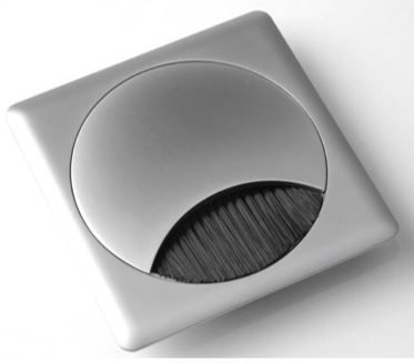 Kabeldose quadratisch - e-m3: Kabelmanagement für Büromöbel