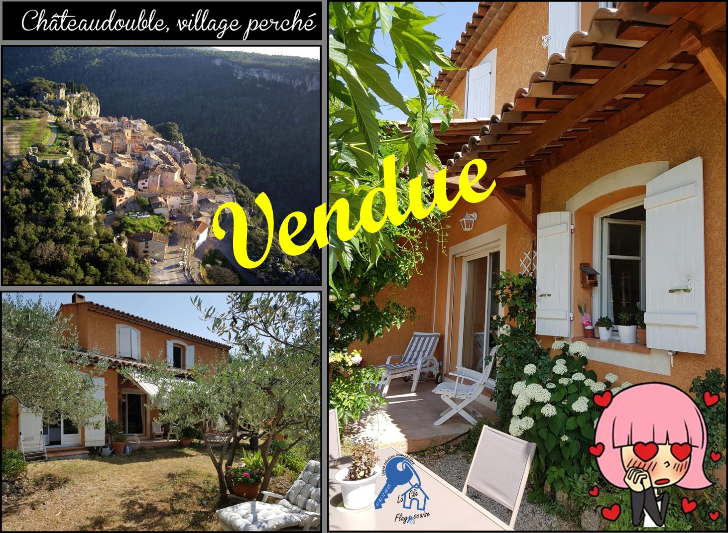 Chateaudouble - 338 000 € - 3 chambres - Terrain 3840 m²
