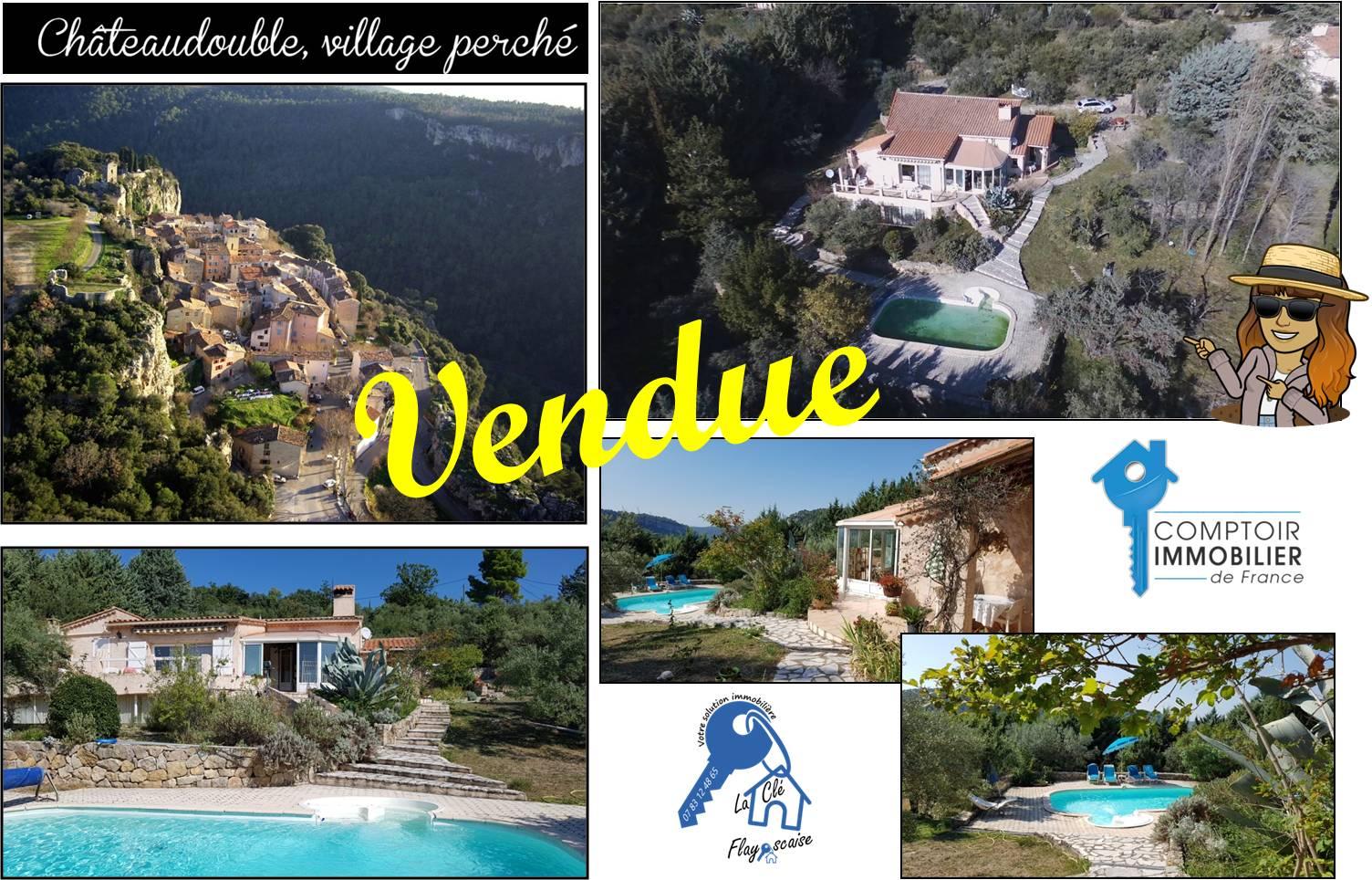 Chateaudouble - 300 000 € - 130 m² - 3 chambres - Terrain 4200 m²