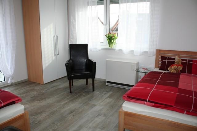 Schlafzimmer 1 mit Einzelbetten