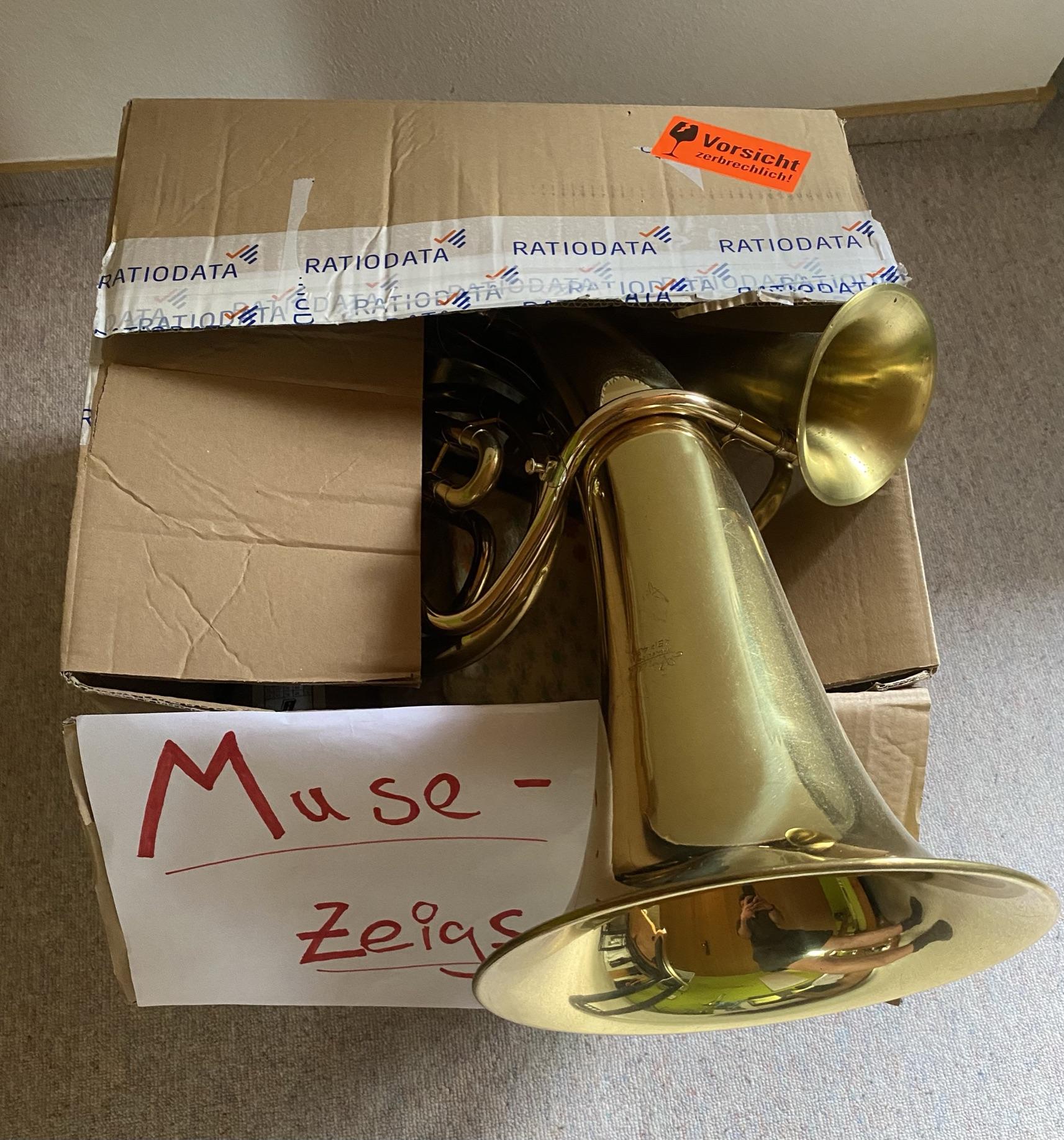 Ahhh, hier ist ja endlich die Kiste mit dem Muse-Zeigs! - Foto: Bernhard Köbler
