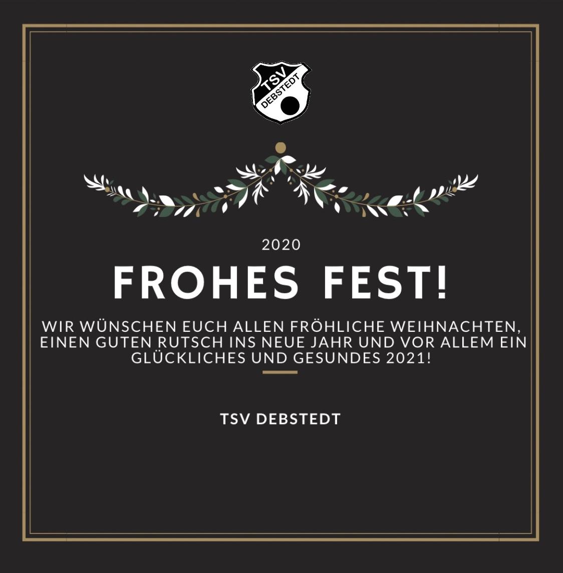 TSV Debstedt wünscht fröhliche Weihnachten