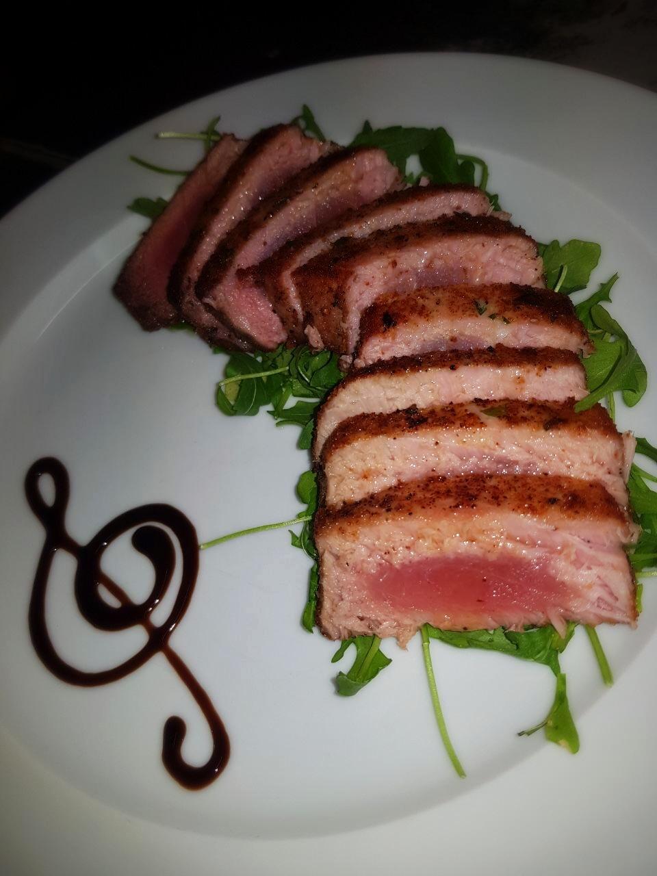 Frischen Thunfisch