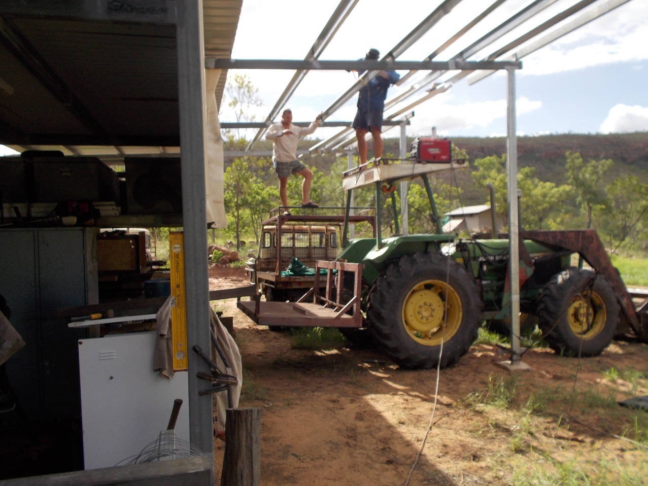 Helicopters require hangars! Working at heights requires platforms and hand-rails