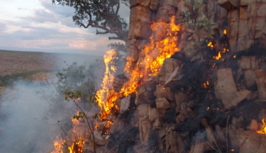 A combination of dry ground as well as dry vegetation makes it tricky to put in fire-breaks