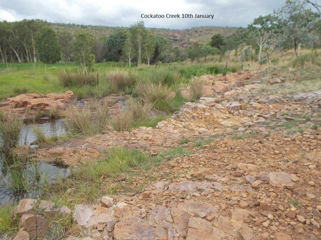 Normally by early December water is flowing off the ranges – this season was different!